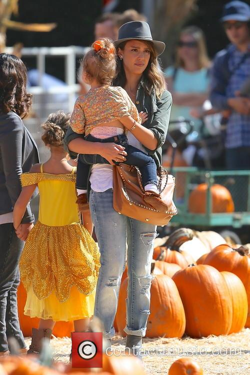 Jessica Alba, Honor Marie Warren and Haven Garner Warren 1