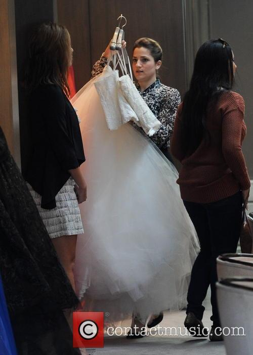 Naya Rivera shops for her wedding dress