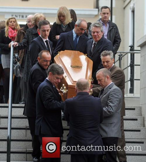 The funeral of The Pogues guitarist Philip Chevron