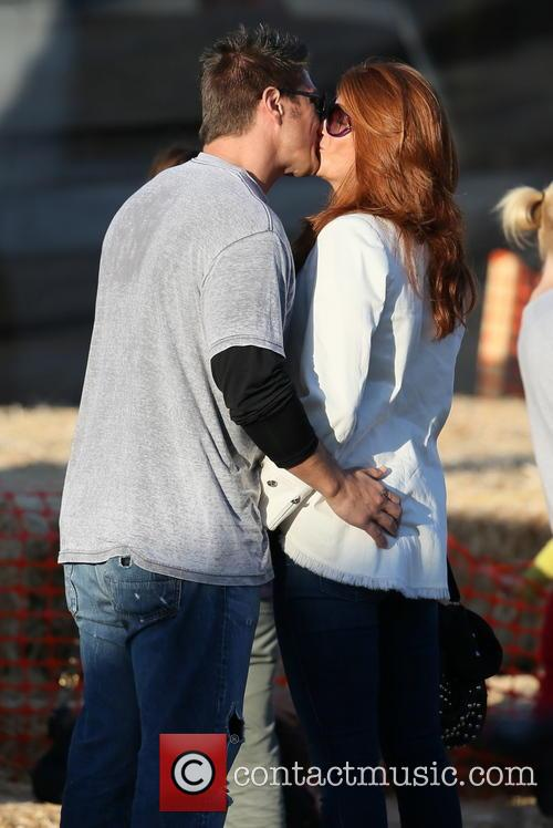 Angie Everhart and Fritz Pfnur