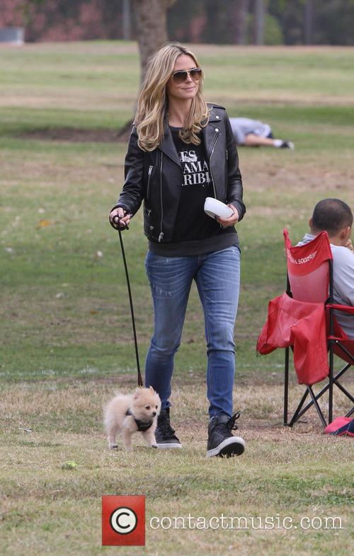 Heidi Klum At Soccer Match