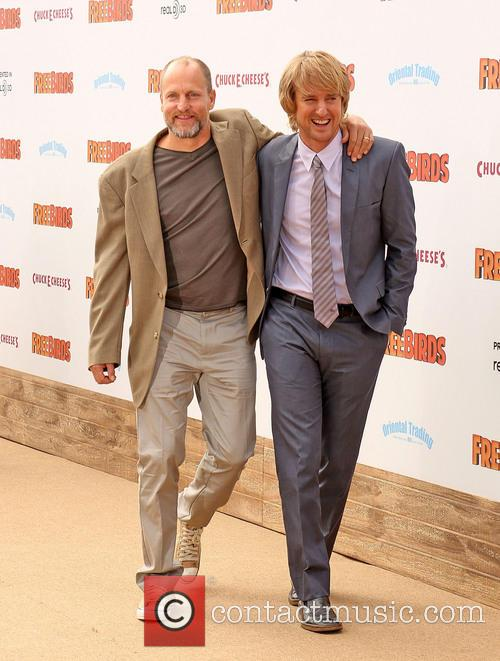 Woody Harrelson, Owen Wilson, Westwood Village Theatre