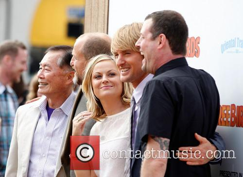 George Takei, Woody Harrelson, Amy Poehler, Owen Wilson and Jimmy Hayward 2