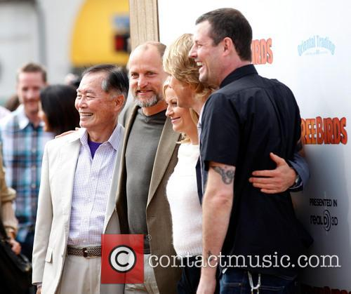 George Takei, Woody Harrelson, Amy Poehler, Owen Wilson and Jimmy Hayward 1