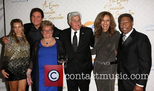 Cassandra Mann, Jeff Tracta, Claude Mann, Jay Leno, Marilyn Mccoo and Billy Davis Jr. 2