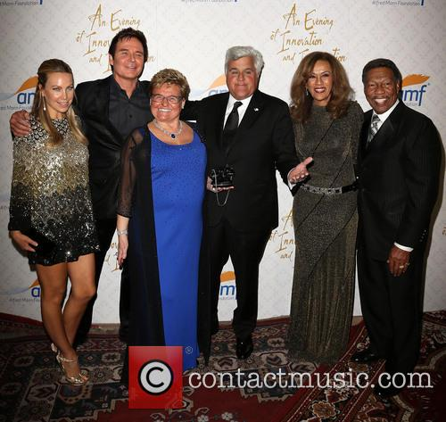 Cassandra Mann, Jeff Tracta, Claude Mann, Jay Leno, Marilyn Mccoo and Billy Davis Jr. 1