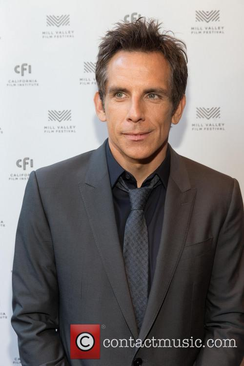 Ben Stiller and his wife Christine Taylor at...