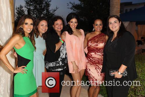 Eva Longoria, Emily Jeannette Longoria, Esmeralda Josephina Longoria, Edy Ganem, Judy Reyes and Guest 2