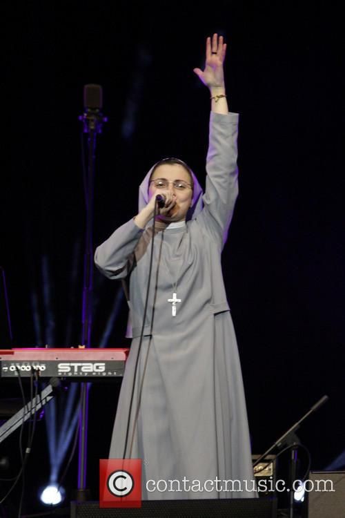 Sister Cristina performing at the Feast of Faith...