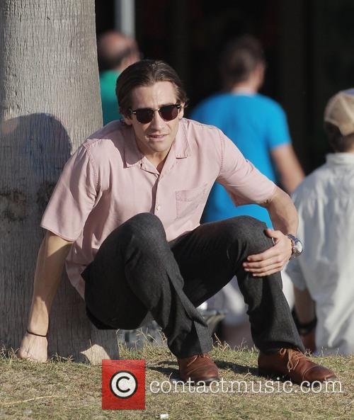Jake Gyllenhaal On Nightcrawler Filmset