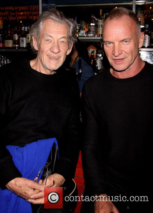 Ian Mckellen, Sting and Gordon Sumner 3