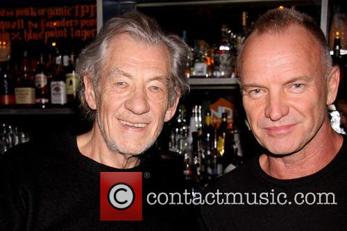 Ian Mckellen, Sting and Gordon Sumner 1