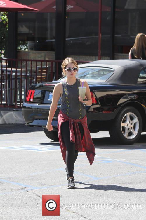 Ashley Benson Leaves The Gym