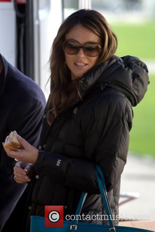 Liz Hurley, The Royals Film Set