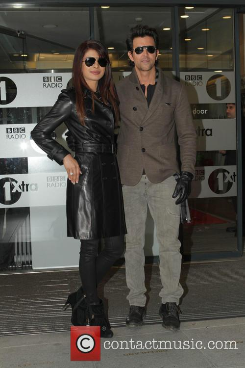 Celebrities at the BBC Radio 1 studios