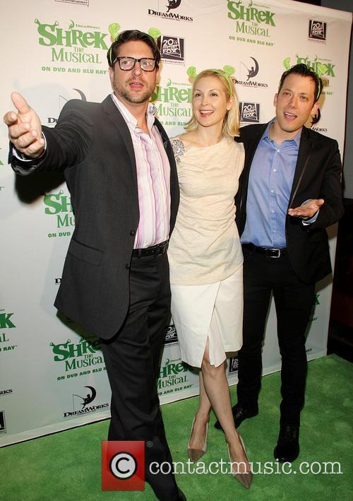 Christopher Sieber, Kelly Rutherford and John Tartaglia 5