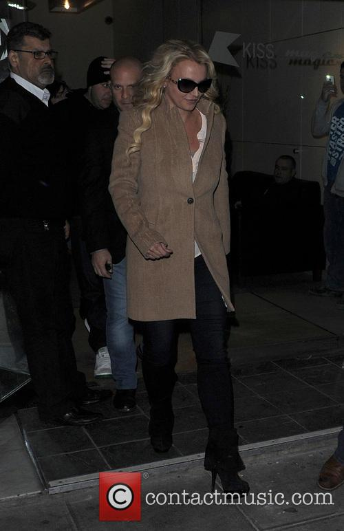 Britney Spears leaving the Kiss 100 studios
