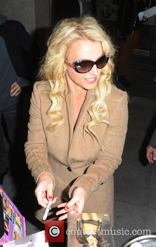 britney spears celebrities at the bbc radio 3908966