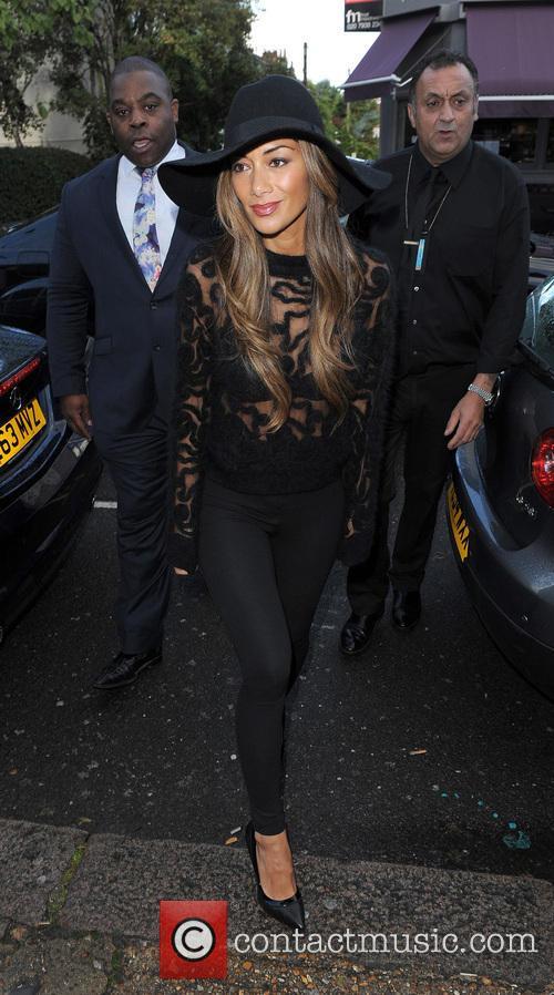 Celebrities arriving at the Riverside Studios to film a episode of TV show Celebrity Juice