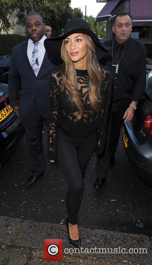 Celebrities arriving at the Riverside Studios to film...