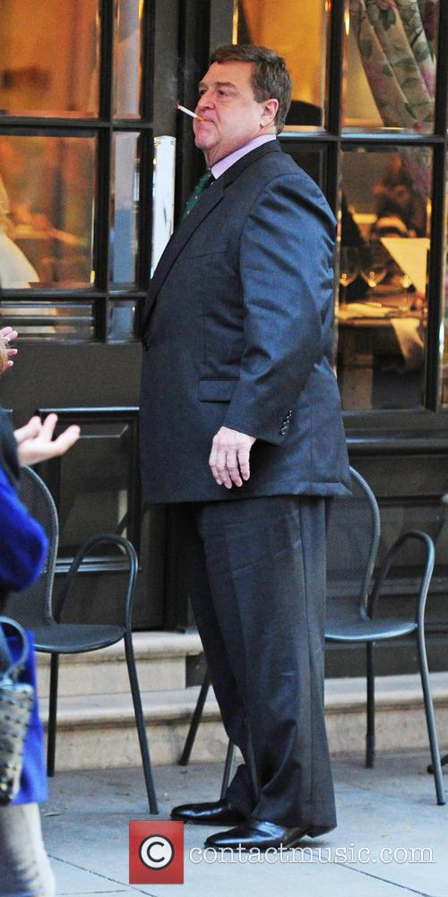American actor John Goodman outside a hotel in...
