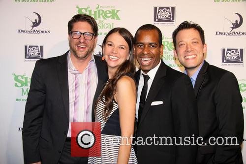 Christopher Sieber, Sutton Foster, Daniel Breaker and John Tartaglia 3