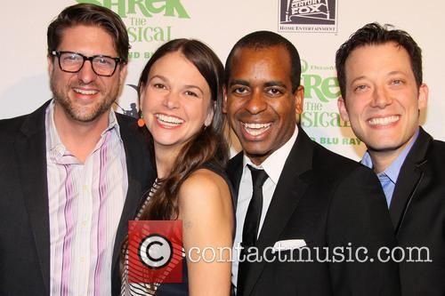 Christopher Sieber, Sutton Foster, Daniel Breaker and John Tartaglia 4