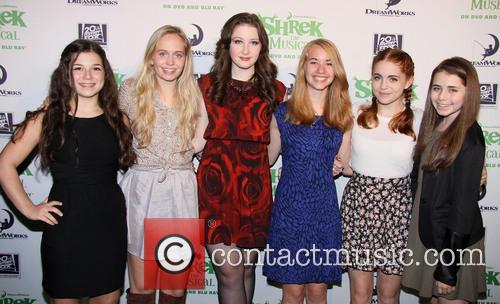 Shrek, Maya Goldman, Tessa Albertson, Marissa O'donnell, Leah Greenhaus, Rozi Baker and Rachel Resheff 7