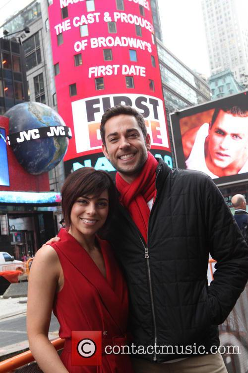 The Cast of Broadway First Date to ring...