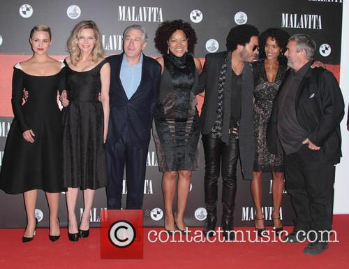 Dianna Agron, Luc Besson, Virginie Silla, Michelle Pfeiffer, Robert De Niro and Lenny Kravitz 2