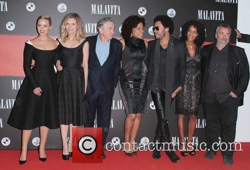 Dianna Agron, Luc Besson, Virginie Silla, Michelle Pfeiffer, Robert De Niro and Lenny Kravitz 1