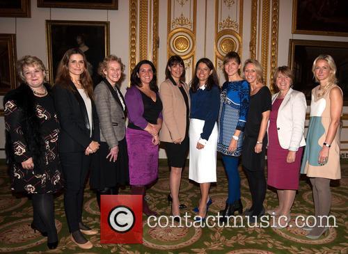 Thea Green, Livia Firth, Athena Donald, Bettany Hughes, Carolyn Mccall, Miriam Gonzalez Durantez, Fiona Bruce, Carrie Longton and Barbara Stocking 2