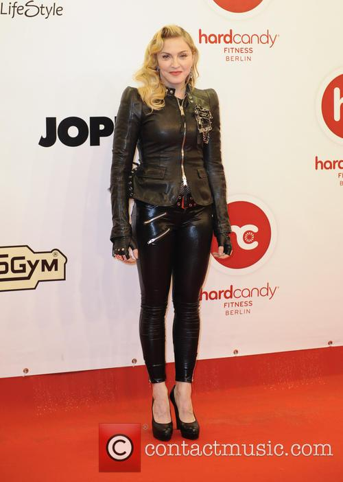 Madonna at Hard Candy Fitness Club Opening