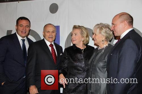 Greg Kelly, Ray Kelly, Hilary Clinton, Veronica Kelly and James Kelly