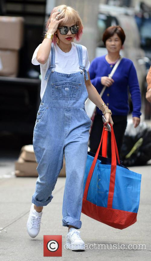 Rita Ora shops in New York
