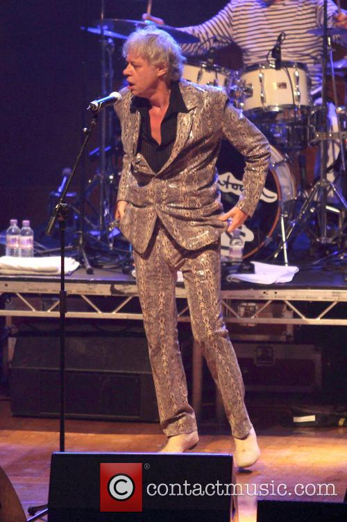 Bob Geldof performs with The Boomtown Rats