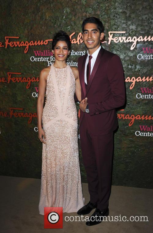 Freida Pinto and Dev Patel 2