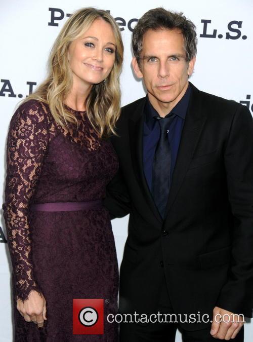 Christine Taylor and Ben Stiller