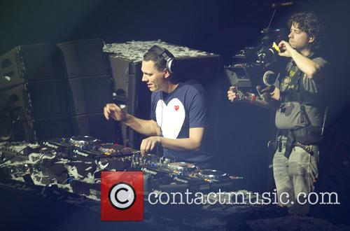 DJ Tiesto performs a live set
