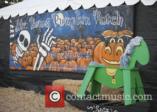 Celebrities visit Mr Bones Pumpkin Patch