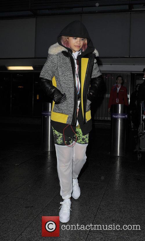 Rita Ora and sister Elena Ora arrive at...