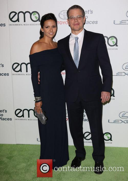 Luciana Damon and Matt Damon 7