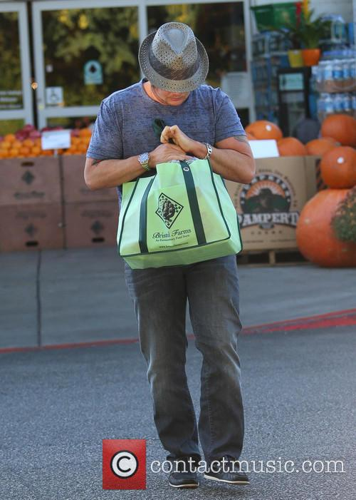 Chaz Bono does some grocery shopping