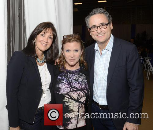 Susan Lipson, Carrie Fisher and David Lipson 2