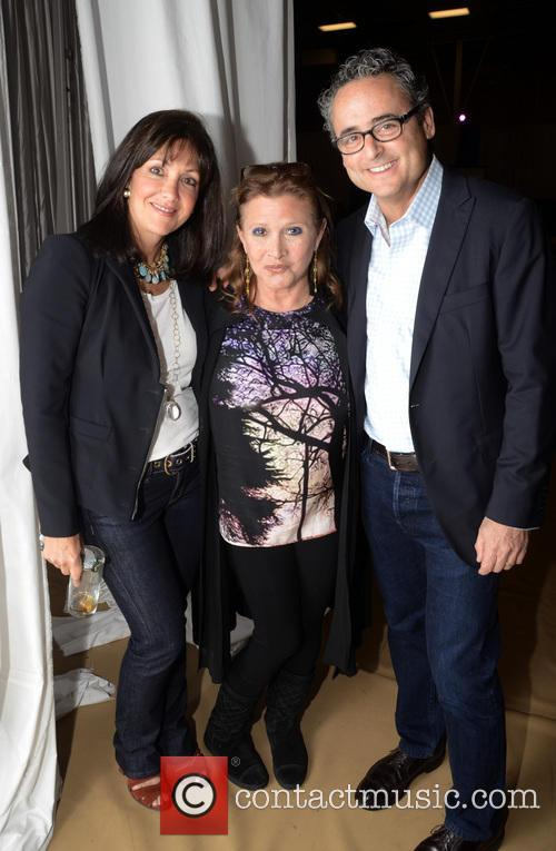 Susan Lipson, Carrie Fisher and David Lipson 1