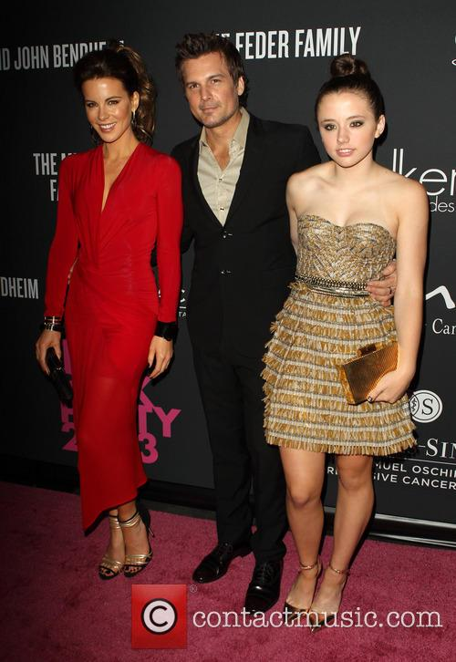 Kate Beckinsale, Len Wiseman and Lily Mo Sheen 5
