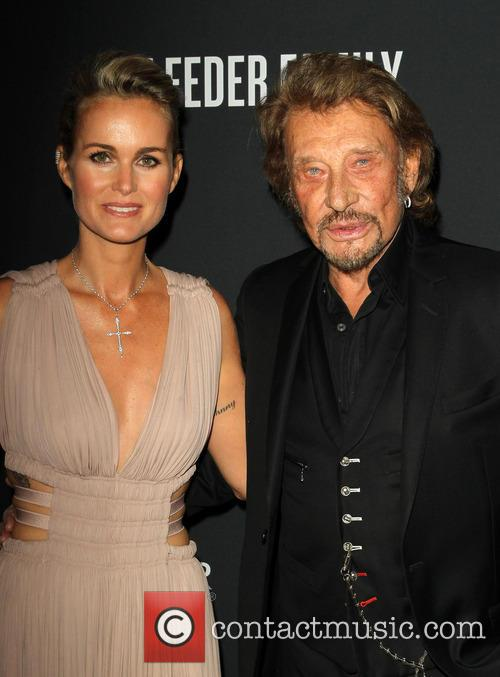 Laeticia Hallyday and Johnny Hallyday 1