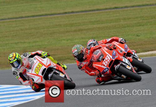 Andrea Iannone Nicky Hayden and Andrea Dovizioso Moto Gp 6