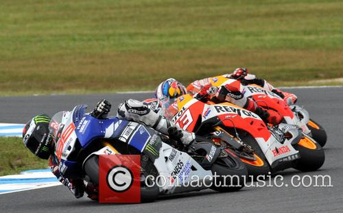 Jorge Lorenzo Leads Motogp Australian Motorcycle Grand Prix From 11