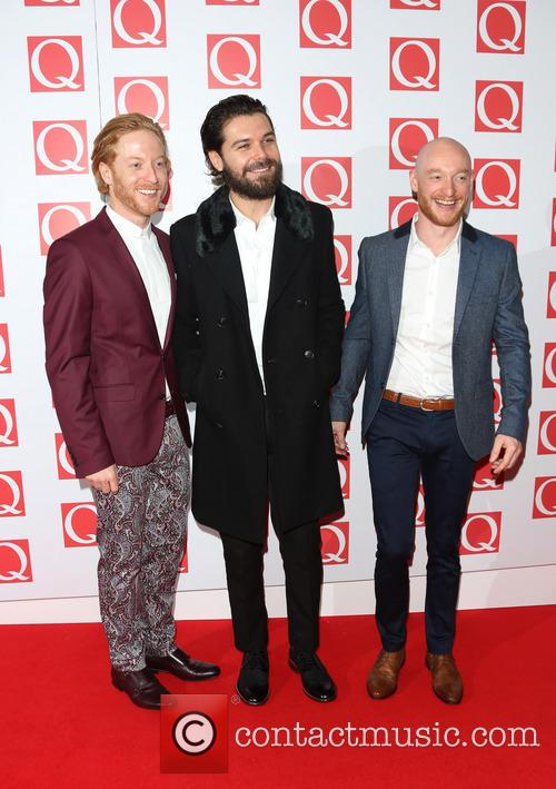 Simon Neil, James Johnstone, Ben Johnston of Biffy Clyro, The Q Awards, Grosvenor House
